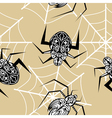 Seamless texture with a spider tattoo vector image vector image