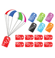 Shopping and retail tags vector image vector image