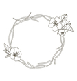 Stock hand drawn wreath with cherry blossom vector image