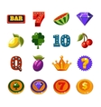 Fruit Machine Icons Collection vector image