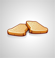 Two slices of bread vector image