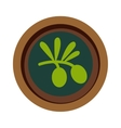 Green leaf vegan soup vector image