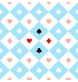 Card Suits Blue White Chess Board Diamond vector image