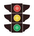 icon of traffic light vector image