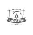 pig roasted emblem vector image