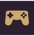 The gamepad icon Game symbol Flat vector image