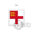 Sark Flag Postage Stamp vector image