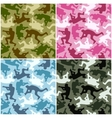 camouflage set vector image