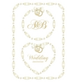 wedding ribbon frame vector image vector image