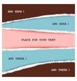 Fun colored memo vector image