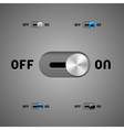 Switch Buttons vector image vector image