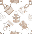 kitchen aprons isolated seamless background vector image