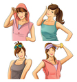 Pretty Girl Collection vector image vector image