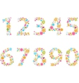 Beautiful flower numbers vector image