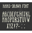 Bold hand-drawn font in the western style vector image