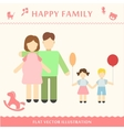 Father and pregnant women vector image