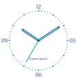 mechanical blue clock vector image