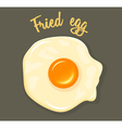 Fried Egg breakfast vector image