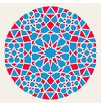 Blue Red Islamic Ornamental Rosette Circle vector image
