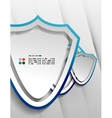 protection shield paper design vector image vector image