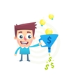 Talent to turn ideas into money vector image
