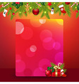 Christmas Border With Garland And Banner vector image vector image
