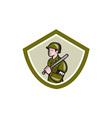 Military Police With Night Stick Baton Shield vector image