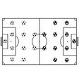 Soccer Stadium Field Black vector image vector image