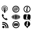 information icons set vector image vector image