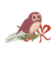 Floral design with owl vector image
