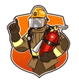 with the fire extinguisher vector image vector image