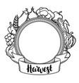 harvest decorative element autumn vector image