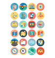 Maps and Navigation Flat Icons 1 vector image