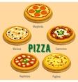 Pizza Italian cuisine menu card vector image