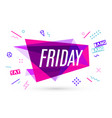 ribbon banner with text friday vector image