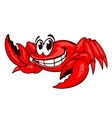Smiling red crab vector image