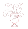 Red wine splash isolated vector image vector image