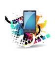 mobile phone Retro background vector image vector image