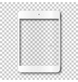touch tablet body without screen vector image