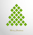 Christmas card with a green abstract tree vector image