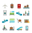 Airport travel icons vector image