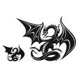 fantasy dragon vector image vector image