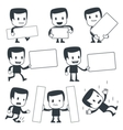 cartoon man with signs vector image vector image