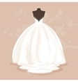 Wedding dress vector image vector image