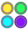 Colorful Thai style Kra Jung circle frame vector image