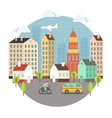 Beautiful Colored City Street Design vector image