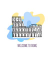 coliseum rome landmark symbol of italy vector image