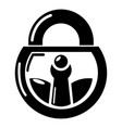 lock vintage icon simple black style vector image
