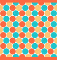 seamless pattern colored circular shapes vector image