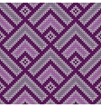 Seamless wool knitted pattern vector image